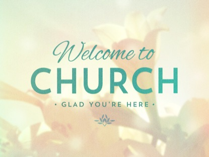 LILIES WELCOME TO CHURCH