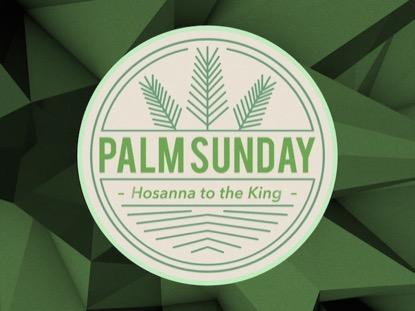 LOW POLY PALM SUNDAY