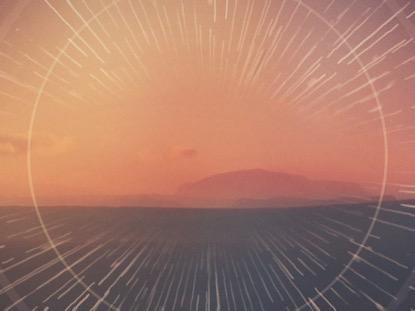 MOUNTAIN RAYS SUNSET