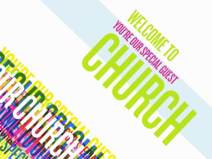MULTI COLOR TEXT WELCOME TO CHURCH