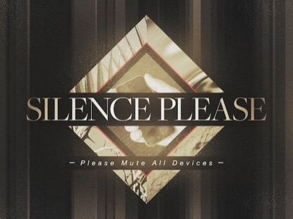 PHOTO DIAMOND: SILENCE PLEASE