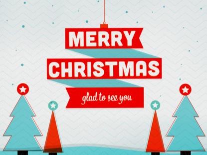 RED RIBBON MERRY CHRISTMAS