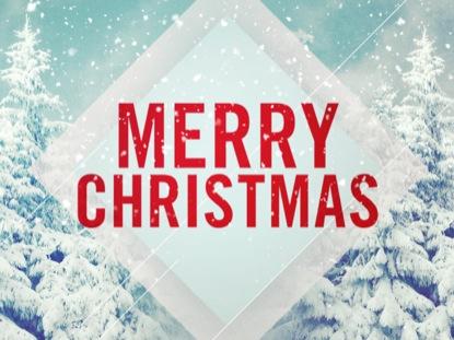 SNOW SCENE MERRY CHRISTMAS