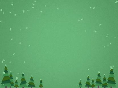 SNOWY TREES GREEN