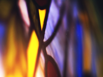 STAINED GLASS BLURRY