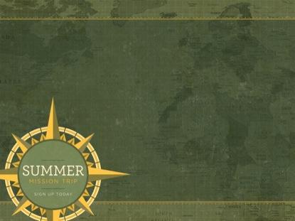 SUMMER MISSION TRIP CONTENT