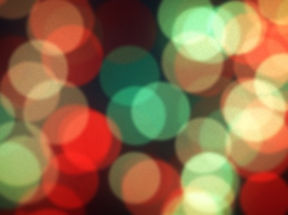 VINTAGE BOKEH CHRISTMAS TREE