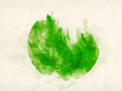 WATERCOLOR CIRCLE GREEN
