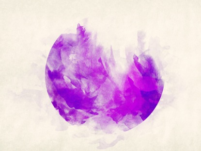 WATERCOLOR CIRCLE PURPLE