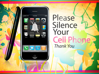 Preview for PLEASE SILENCE YOUR CELL PHONE