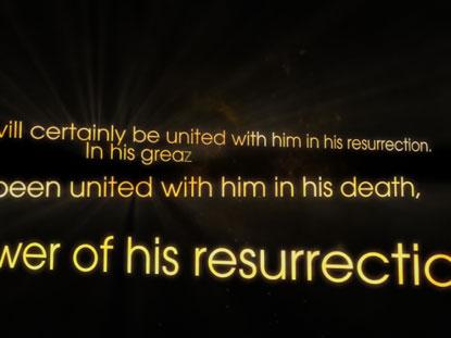 RESURRECTION SCRIPTURE