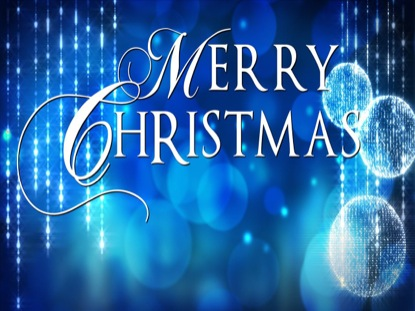 Blue Ornament Merry Christmas Title | PixelGirl Media ...