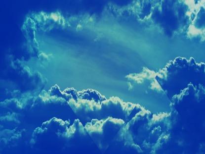 FRACTAL CLOUDS BLUE BACKGROUND