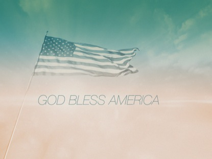 FLAG GOD BLESS AMERICA