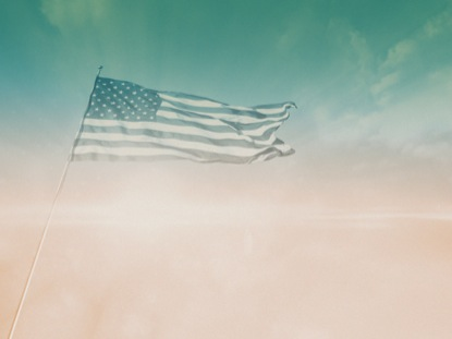 FLAG IN CLOUDS