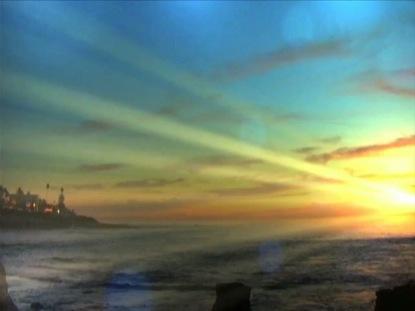 COASTAL SUNSET BEAMS