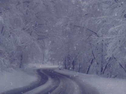 DRIVING IN A WINTER WONDERLAND