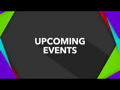 FLAT SQUARE FRAMES ON GRAY UPCOMING EVENTS