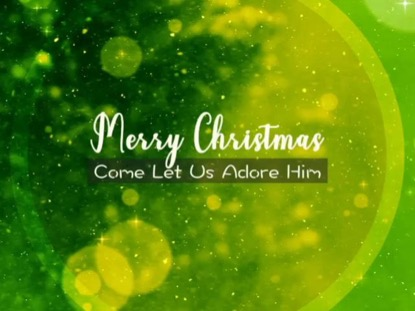 ABSTRACT CHRISTMAS WELCOME TEXT