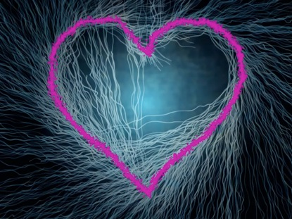 ABSTRACT HEART VALENTINE MOTION