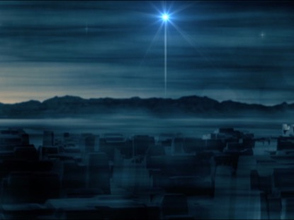 ANCIENT CITY OF BETHLEHEM AT NIGHT