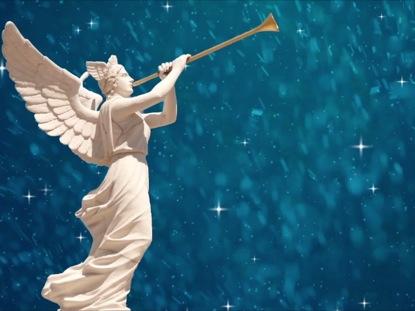 ANGEL WITH TRUMPET CHRISTMAS LOOP