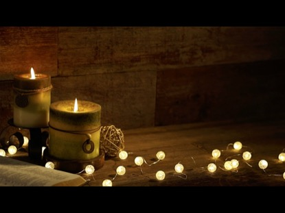 ANGLED CANDLES WITH CHRISTMAS LIGHTS VIDEO