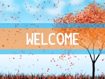 AUTUMN WELCOME FALLING LEAVES