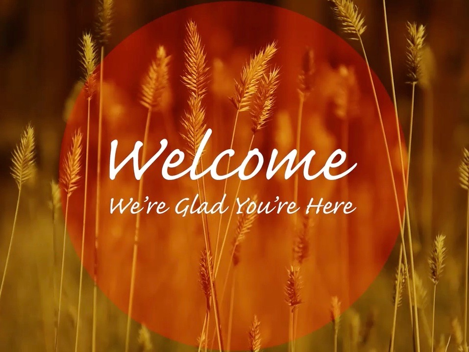 AUTUMN WELCOME TITLE BACKGROUND