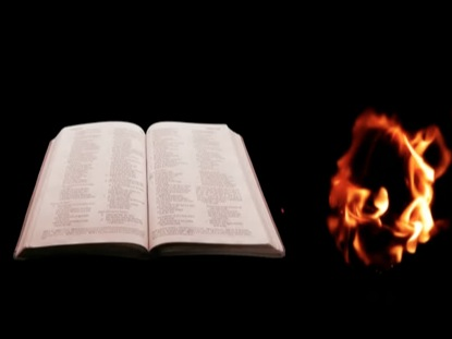 BIBLE AND FIRE TORCH BACKGROUND