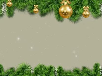 CHRISTMAS HOLIDAYS EVERGREEN BORDER