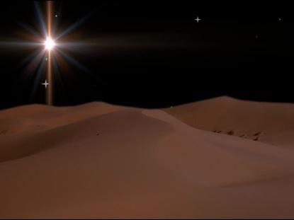 CHRISTMAS STAR OVER DESERT