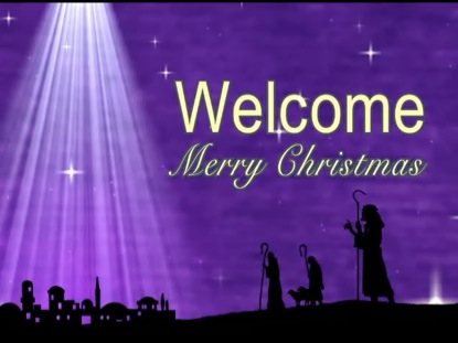 CHRISTMAS WELCOME BACKGROUND
