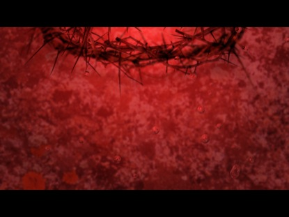 CROWN OF THORNS AND DROPS OF BLOOD