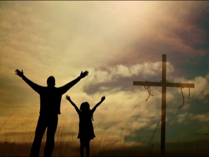 FATHER AND DAUGHTER WORSHIPING