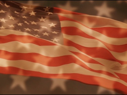 FOURTH OF JULY WAVING FLAG