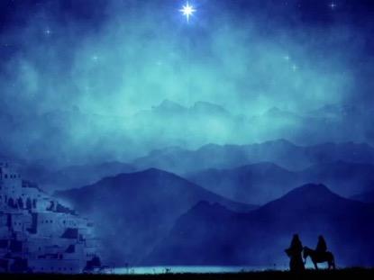 MARY AND JOSEPH NEAR BETHLEHEM