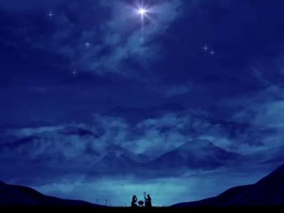 NATIVITY SCENE MESSIAH IS BORN TONIGHT