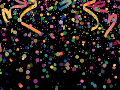 NEW YEAR FALLING CONFETTI BACKGROUND