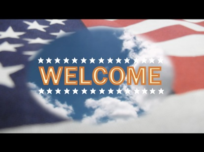 PATRIOTIC WELCOME BACKGROUND