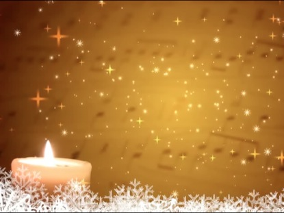 STARS CANDLES AND SNOW HOLIDAYS LOOP