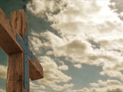 WOOD CROSS AND CLOUDS EASTER MOTION