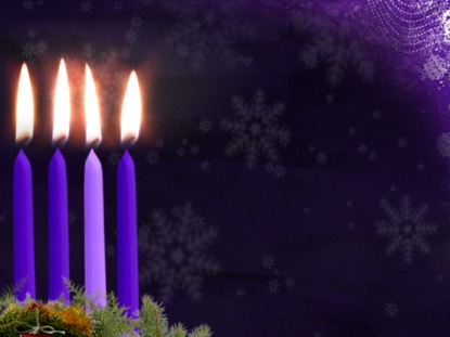 Advent Candle Background Advent Candle Motion Week 4