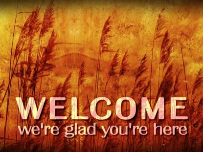 AUTUMN WELCOME BACKGROUND