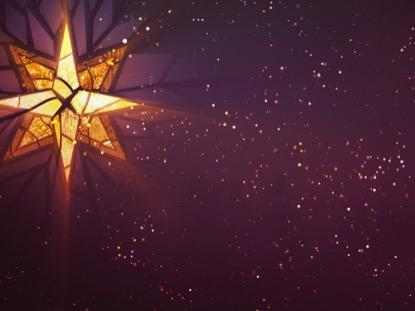 CHRISTMAS GLASS STAR