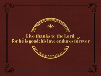 CLASSIC GIVE THANKS