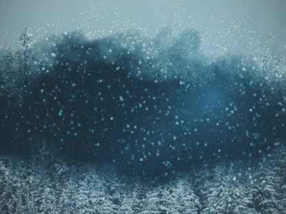 SNOWY NIGHT BLUE