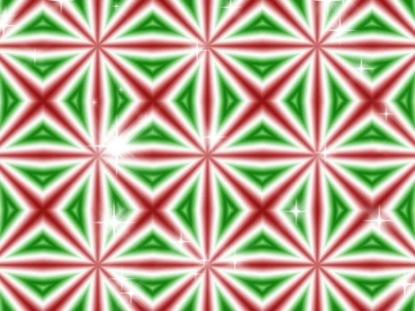 CHRISTMAS KALEIDASCOPE RED-GREEN 1