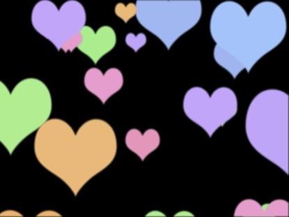 COLOR HEARTS BLACK