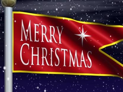 MERRY CHRISTMAS PENNANT